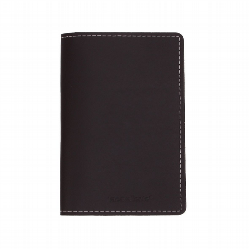 Recycled Leather - Passport Holder - Black